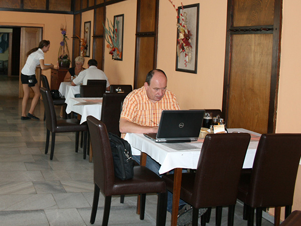 Restaurant in the hotel Zetocha